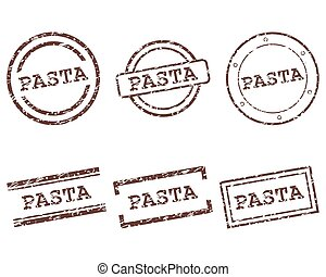 Pasta stamps