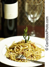 pasta time meal F - pasta meal on a plate