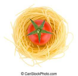 pasta, tomat, italiensk, körsbär