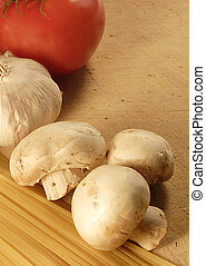 pasta tomate, cogumelo