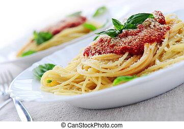 pasta, tomatensaus