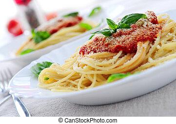 pasta, tomatosauce