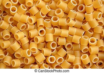 pasta tubes detail