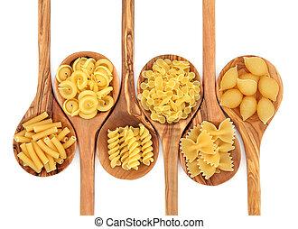 pasta, varieteterer