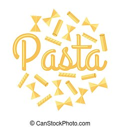 Pasta Vector Concept in Flat Design