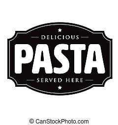 Pasta vintage sign retro