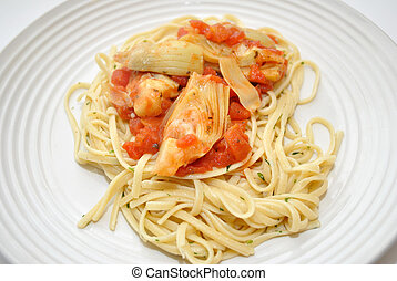 Pasta with Artichokes and Tomatoes