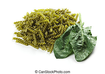 Pasta with natural green colorant