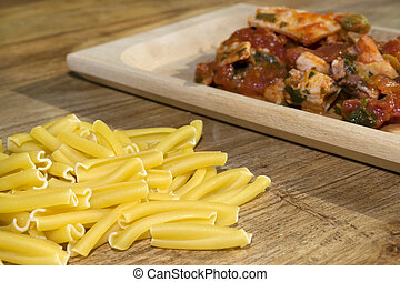 pasta with swordfish