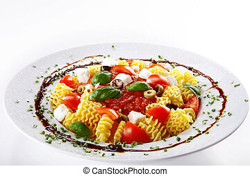 pasta with tomato sauce dekorativ