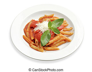 pasta with tomato sauce - Simple rigatoni pasta dish with ...