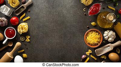 pastas, alimento, ingrediente