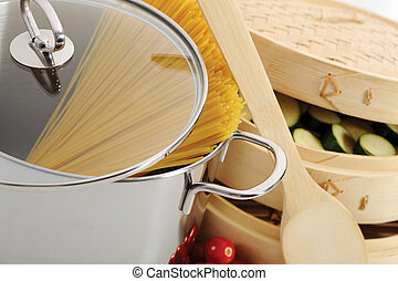 pastas, cocina, herramientas, italiano