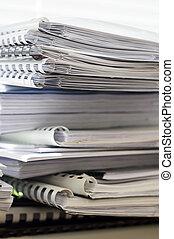 pastas, documentos, pilha