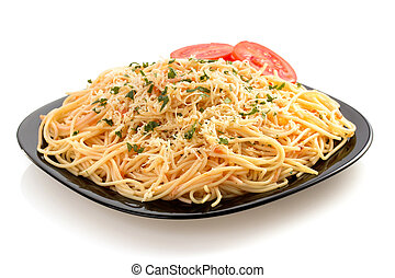 pastas, espaguetis, macarrones, blanco