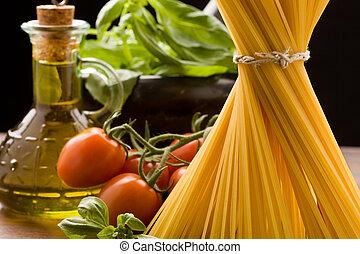 pastas, ingredientes, italiano