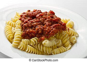 pastas, salsa bolognese