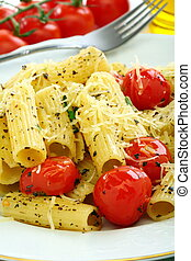 pastas, tomate, queso