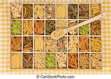 pastas, variation.