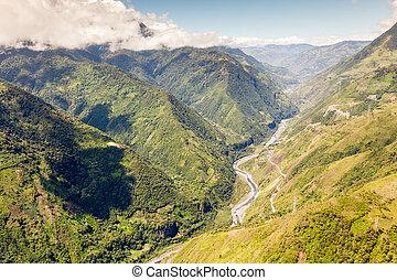 Pastaza Valley In Ecuador