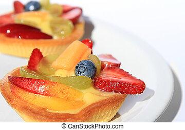 paste - pasta frolla con la frutta e crema