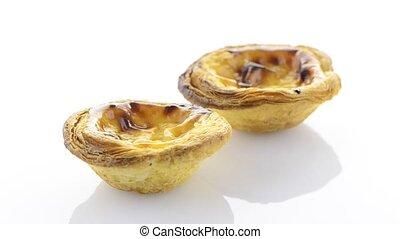 Pasteis de nata - Close-up of a delicious pasteis de nata,...