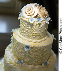 pastel, adornado, boda, bastante, beautifully