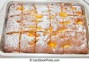 pastel, albaricoque