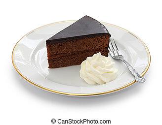 pastel, austríaco, chocolate