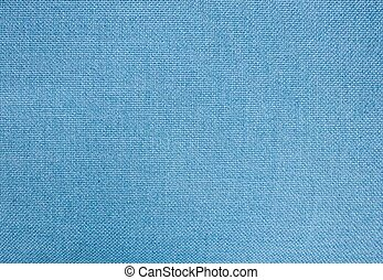 Pastel Background of Blue Cotton Textile Texture