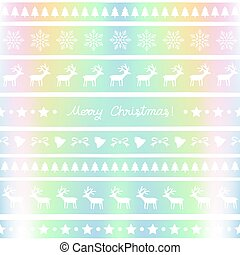 Pastel background with Christmas pattern