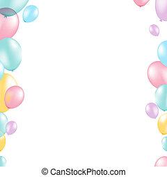 pastel, balloon, grens