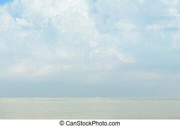 Pastel beautiful summer sea sky background