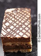 pastel, bisquit, primer plano