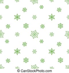 pastel, blanc, vert, flocon de neige, fond