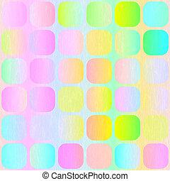 pastel, blocs, modèle