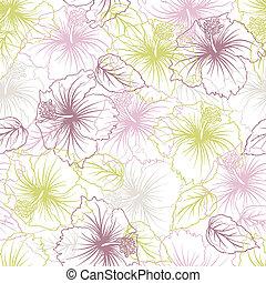 pastel, bloem, pattern., seamless, elegantie