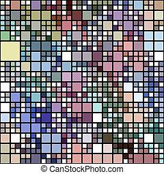 pastel, blokke, farvet, mønster