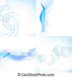 Pastel Blue Backgrounds Set