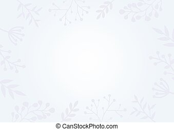 Pastel blue gradient background with flower border