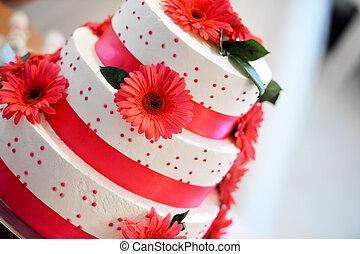 pastel, boda blanca