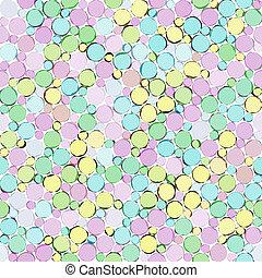 pastel, bosquejo, burbuja, patrón