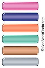pastel, bouton, toile