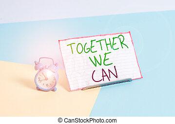 pastel, can., écriture, puissant, placé, à côté de, groupe, feuille, possible, concept, marques, tout, horloge, ensemble, reveil, mini, unité, toile fond., nous, écriture, une, signification, incliné, boîte, taille, texte, papier