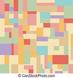 pastel, carrée, b, seamless, rectangle