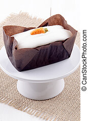 pastel, casa hacer, zanahoria, glaseado