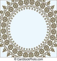 pastel, cercle, vecteur, cadre
