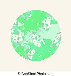 pastel, cirkel, artistiek, plonsen, verf