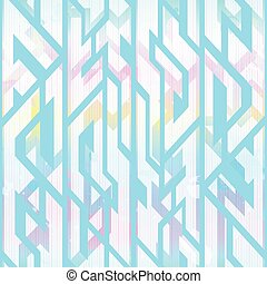 Pastel color geometric pattern with grunge effect
