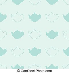Pastel color Teapot vector seamless Pattern
